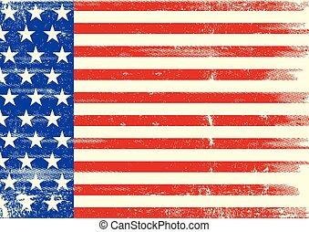 norteamericano, plano de fondo, bandera