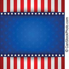 norteamericano, plano de fondo