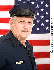 norteamericano, policía