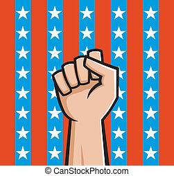 norteamericano, puño