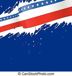 norteamericano, resumen, bandera, plano de fondo
