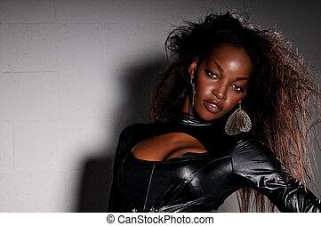 norteamericano, sensual, africano