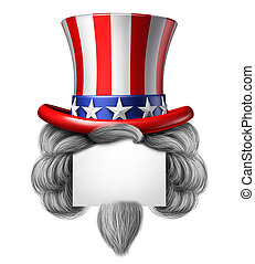 norteamericano, sombrero, señal