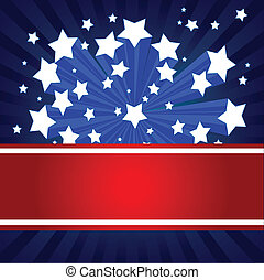norteamericano, starburst, plano de fondo