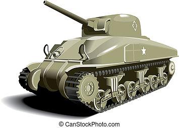 norteamericano, tanque