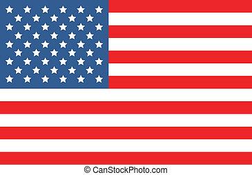 norteamericano, vector, bandera