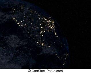 North America at night 4K - North America at night....