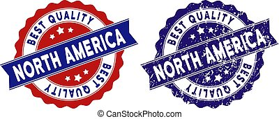 North America Best Quality Stamp with Grungy Style