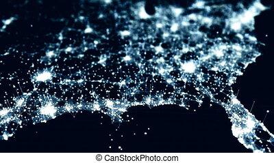 North America growing into the future. - Futuristic North...