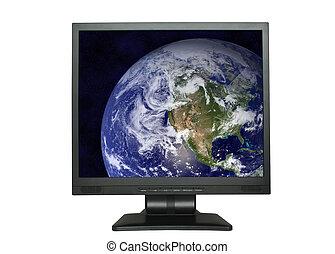 North America in LCD screen