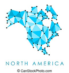 North America map - North America low poly map vector - ...