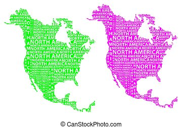 North America map - Sketch North America letter text...