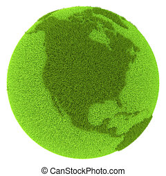 North America on green planet