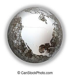 North America on metallic Earth - North America on metallic ...