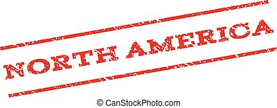 North America Watermark Stamp