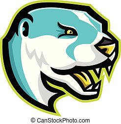 north-american-river-otter-head-side-mascot