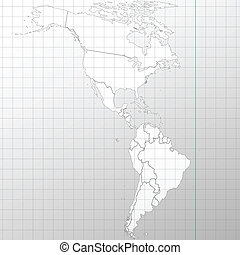 North and South America map background