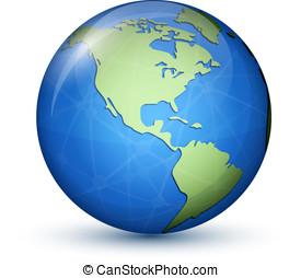 North and South Americas - North and South America. Earth...