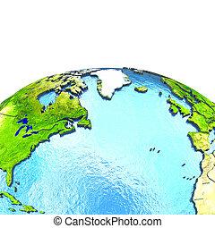 north atlantic, képben látható, formál, közül, földdel feltölt