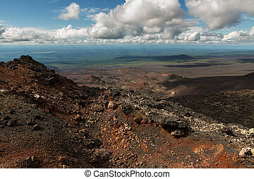North Breakthrough Great Tolbachik Fissure Eruption 1975