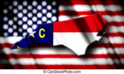 North Carolina 03 - Flag of North Carolina in the shape of...