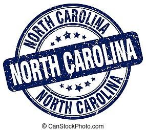 North Carolina blue grunge round vintage rubber stamp