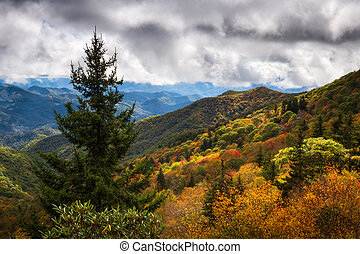 North Carolina Blue Ridge Parkway Autumn Colors Scenic Landscape Photography