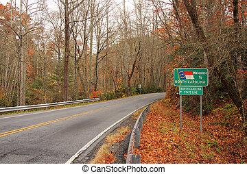 North Carolina Entrance Sign