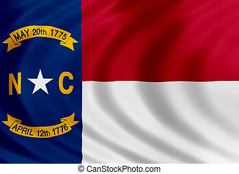 North Carolina flag of silk