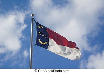 North Carolina flag - The North Carolina State flag flying...