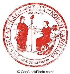 North Carolina Seal Rubber Stamp