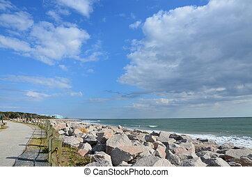 North Carolina Shore - A view of the rocks along the shore...