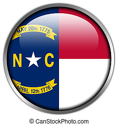 North Carolina State Flag glossy button