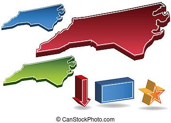 North Carolina State map.