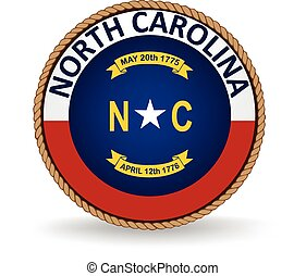 Seal of the American state of North Carolina.