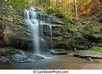 North Carolina Waterfall - Waterfall in the Blue Ridge...