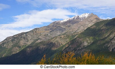 North Cascades Clouds Roll Over Peak Washington Mountain...