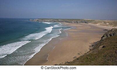 North Cornwall coast Holywell Bay - Holywell Bay North...