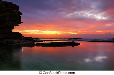 North Curl Curl dawn long exposure - A long exposure at dawn...