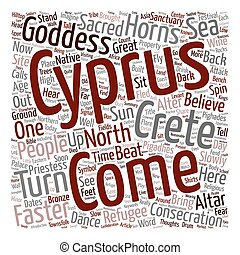 North Cyprus Alter at Pighades text background wordcloud...