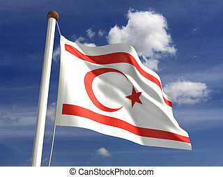 North Cyprus Flag - North Cyprus flag (with clipping path)