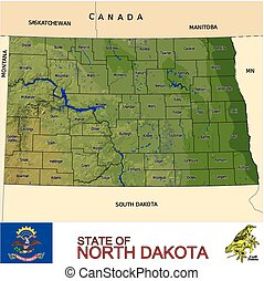 North Dakota Counties map
