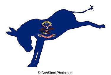 North Dakota Democrat Donkey Flag