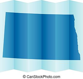 North Dakota map on a white background. Vector illustration.
