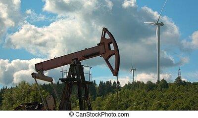 North Dakota Oil Boom Pump Jack Fracking Crude Extraction...