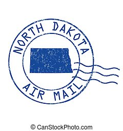 North Dakota post office, air mail stamp - North Dakota post...