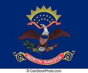 North Dakota state flag. United States of America