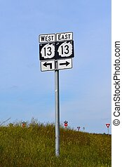 North Dakota traffic sign with Indian chieftain
