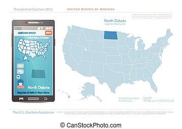 north dakota - United States of America maps and North ...