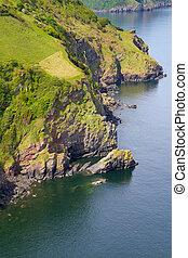 North Devon coastline view
